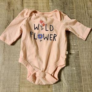 Pink Baby GAP Wild Flower onesie